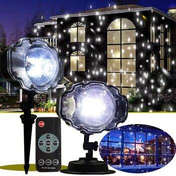 6243df0f804 Navidad láser copo de nieve proyector exterior LED luces de discoteca  Navidad hogar jardín estrella luz Navidad decoración de Navidad