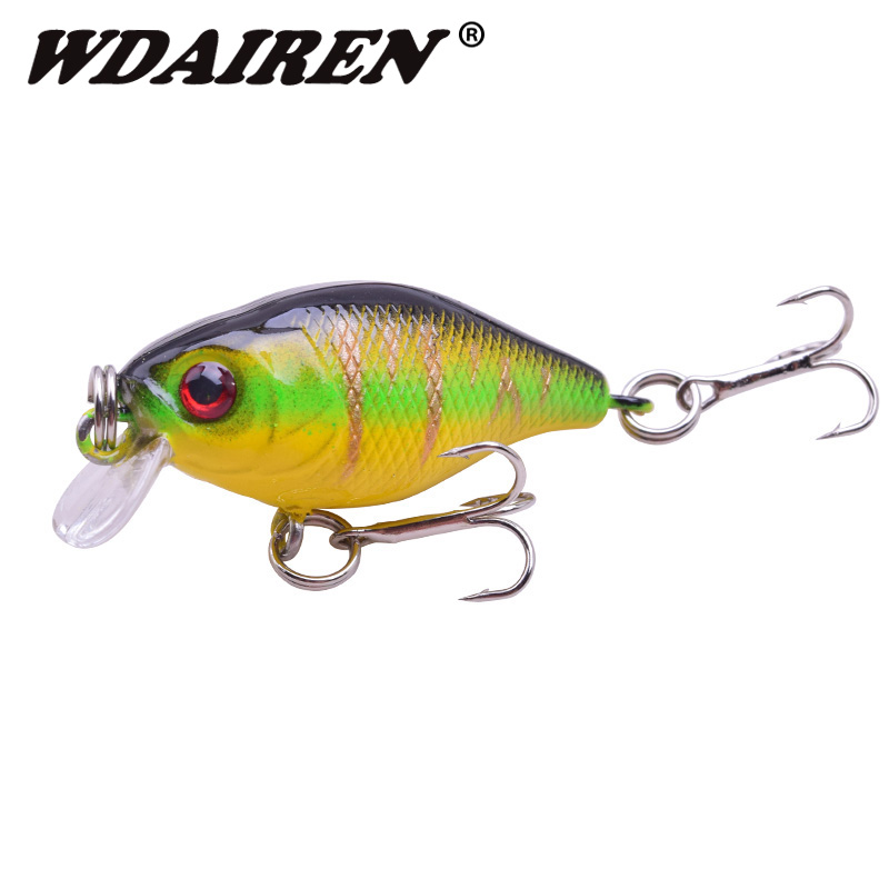1Pcs 4.5cm 4g Fishing Lures Hard Bait Minnow Fishing Lure Bass Crankbait Swimbait Trout Crank Baits with 10# hooks Tackle crank baits brand plastics baits fishing lures fishing minnow top water lure 2018 new arrival 10 colors fishing tackle sea yb73