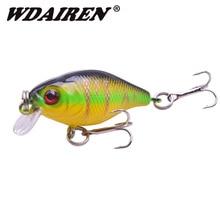 1Pcs Crank Hard Fishing Lures 4.5cm 4g Minnow Crankbait Swimbait Tackle Trout Bass Artificial plastic Baits with 10# Treble Hook