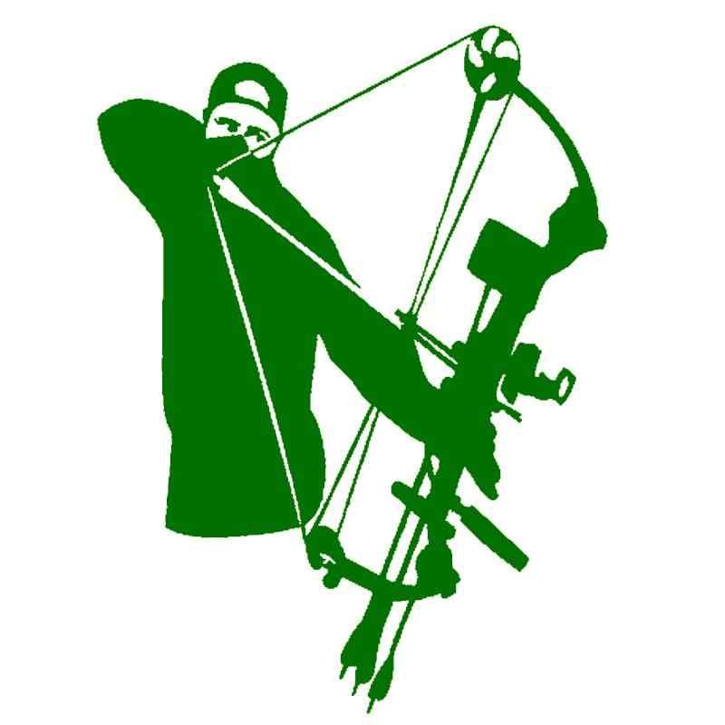 Hotmeini Mobil Stiker JDM Gaya Jendela Bumper Vinyl Tubuh Truk Decal Bow Hunter Berburu Panah Pemanah Menembak Menyenangkan Negara 11.5*15.5 Cm