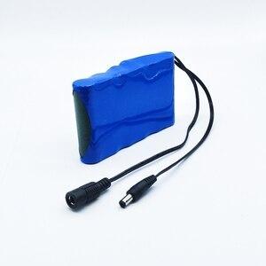 Image 3 - HK Liitokala Süper Taşınabilir Şarj Edilebilir Lityum Iyon Kapasitesi DC 12 V 12.6 V 6800 mAh Pil CCTV Monitörler