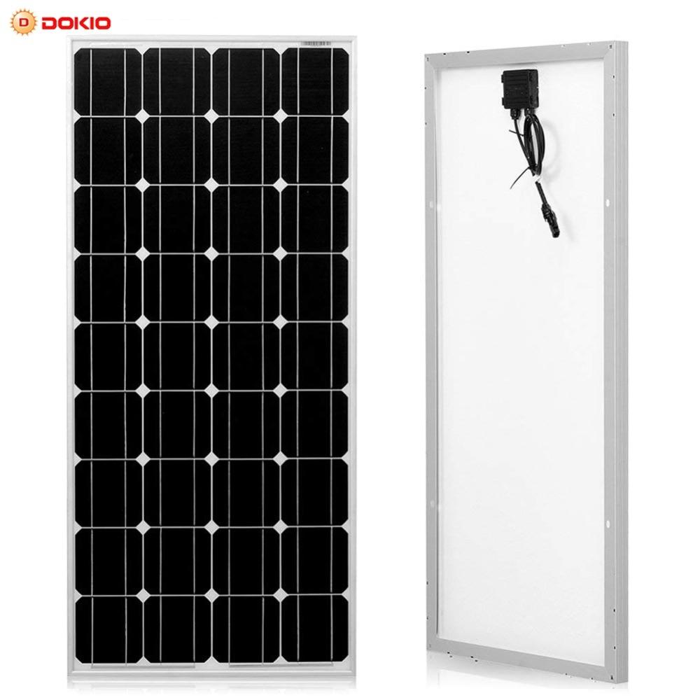 Dokio Brand Solar Panel China 100W Monocrystalline Silicon 18V 1175x535x25MM Size Top quality Solar battery China #DSP-100M dokio 80w monocrystalline silicon solar panel 18v 760x660x30mm size environmental protection panel solar dsp 80m