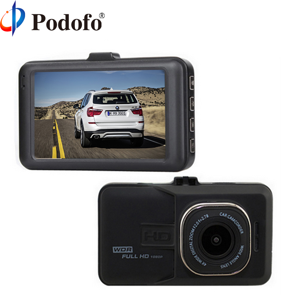 Podofo Original Novatek 96223 Car DVR Camera Full HD 1080p Video Recorder 3.0 inch Dashcam FH06 Registrator G-sensor Dash Cam e ace car dvr original novatek 96223 mini camera full hd 1080p digital video recorder dash camcorder auto registrator dashcam