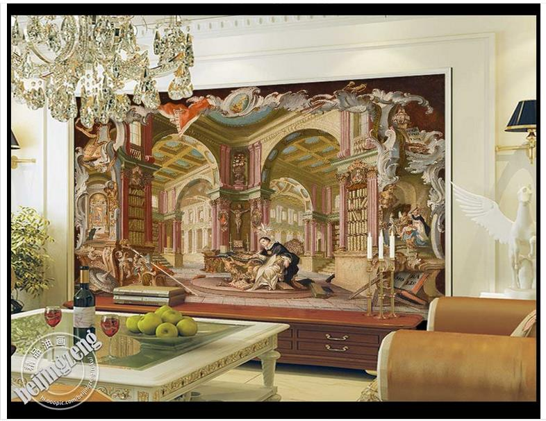 3D wall murals wallpaper custom picture mural Royal library gt classical landscape painting background wall paper room wallpaper in Wallpapers from Home Improvement