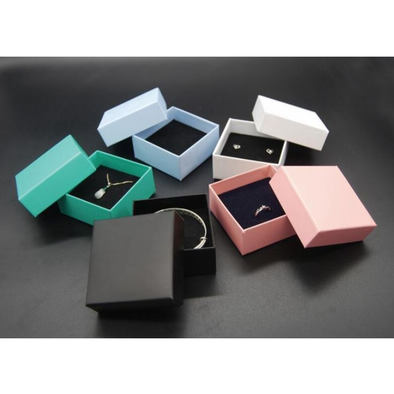 NEW Simple Sense Square Shape Jewelry Box Earrings Rings Necklaces Bracelets Gift Boxes Square Carton
