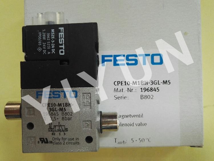 CPE10-M1BH-3GL-M5 196845 CPE10-M1BH-5/3G-QS-6 196871 CPE10-M1BH-5/3G-QS6-B 533153 CPE10-M1H-5J-M5 162898 FESTO Solenoid valve brand new authentic festo throttle valve gro m5 b 151214