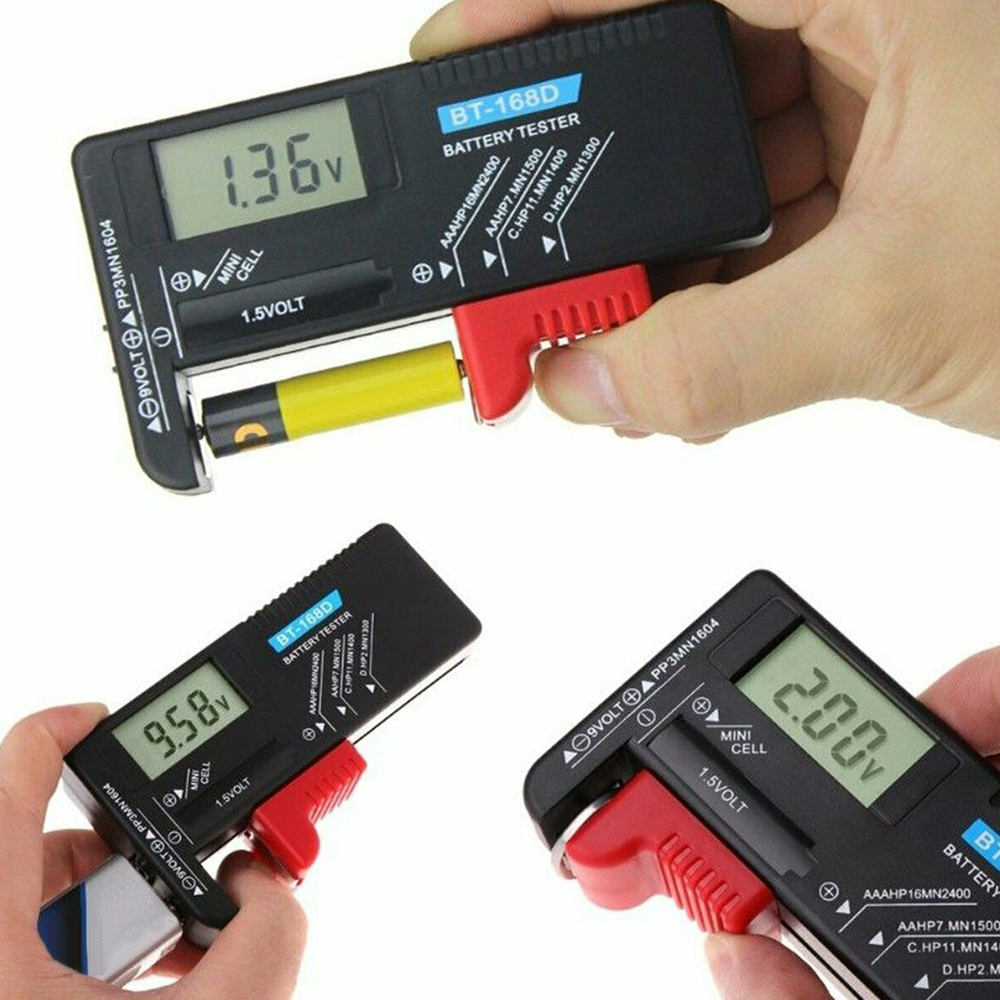1pcs BT-168D Digital Battery Capacitance Diagnostic Tool Battery Tester  Display Check Button Cell Universal Tester