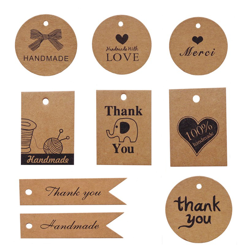 100 PCS Personalized Paper Tags Thank You For Celebrating Custom Wedding Favor Hang Tags