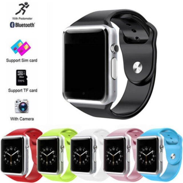 A1 WristWatch Bluetooth Smart Watch Sport Pedometer  Support SIM TF Card For Android Smartphone  Smartwatch PK GT08 DZ09 Q18 Y1
