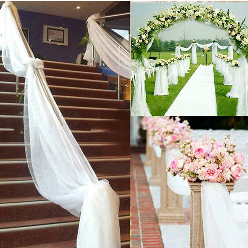 30 Best Diy Wedding Decorations: 110*0.75 Meters Staircase Handrail Yarn Stage Party