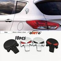 10 pz 3D Autoadesivo Corpo In Metallo Emblema Etichetta Auto Hood Badge Auto Cofano Punisher