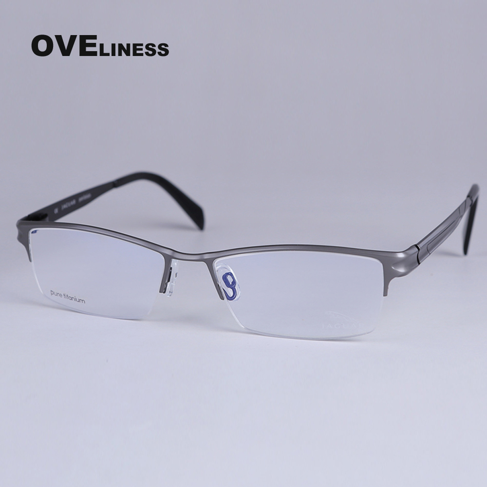 Titanium Eyeglasses Optical Frame Eyeglasses Frame Half rim prescription eyewear Spectacles Big Square glasses frame bowtie decor blue black plastic full rim spectacles glasses eyeglasses frame