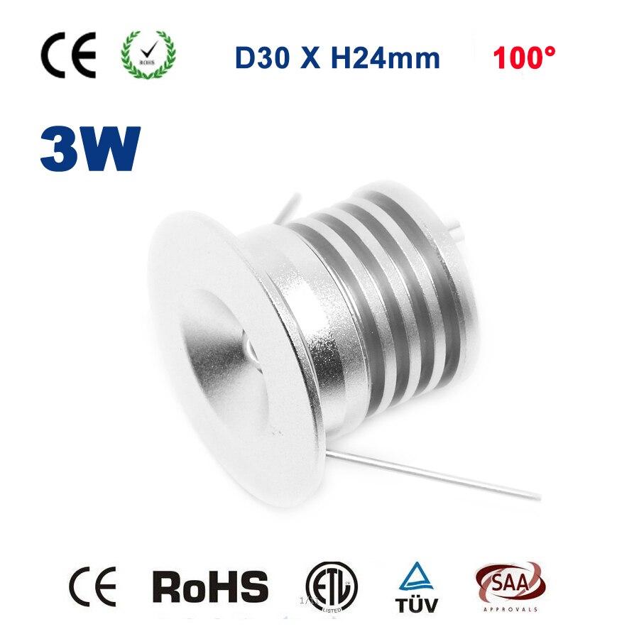 3 Вт LED DC12V 24 В 240lm Bridgelux потолочные встраиваемые 80ra Кухня Гостиная номер лампа ce rohs