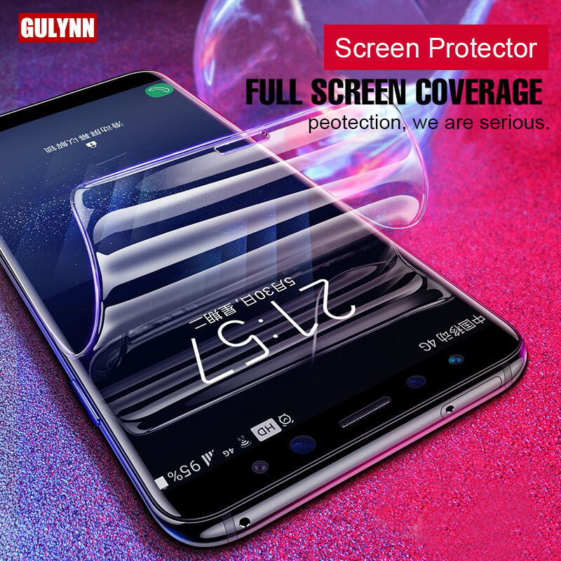 Real 3D Full Cover Film For Samsung Galaxy S6 S7 S8 S9 Edge Plus Film Super Nano-Soft Screen Protector Film For Samsung Note8
