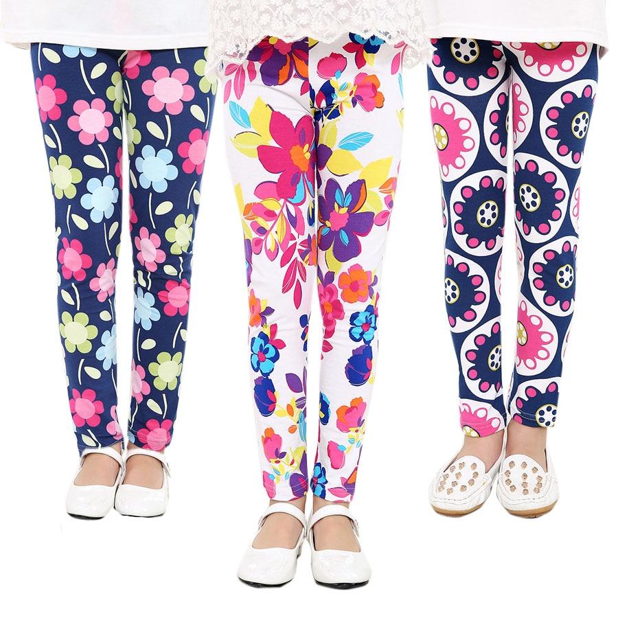 Baby Kids Childrens printing Flower Toddler Classic Leggings girls pants Girls legging 2-12Ybaby girl leggings best gift