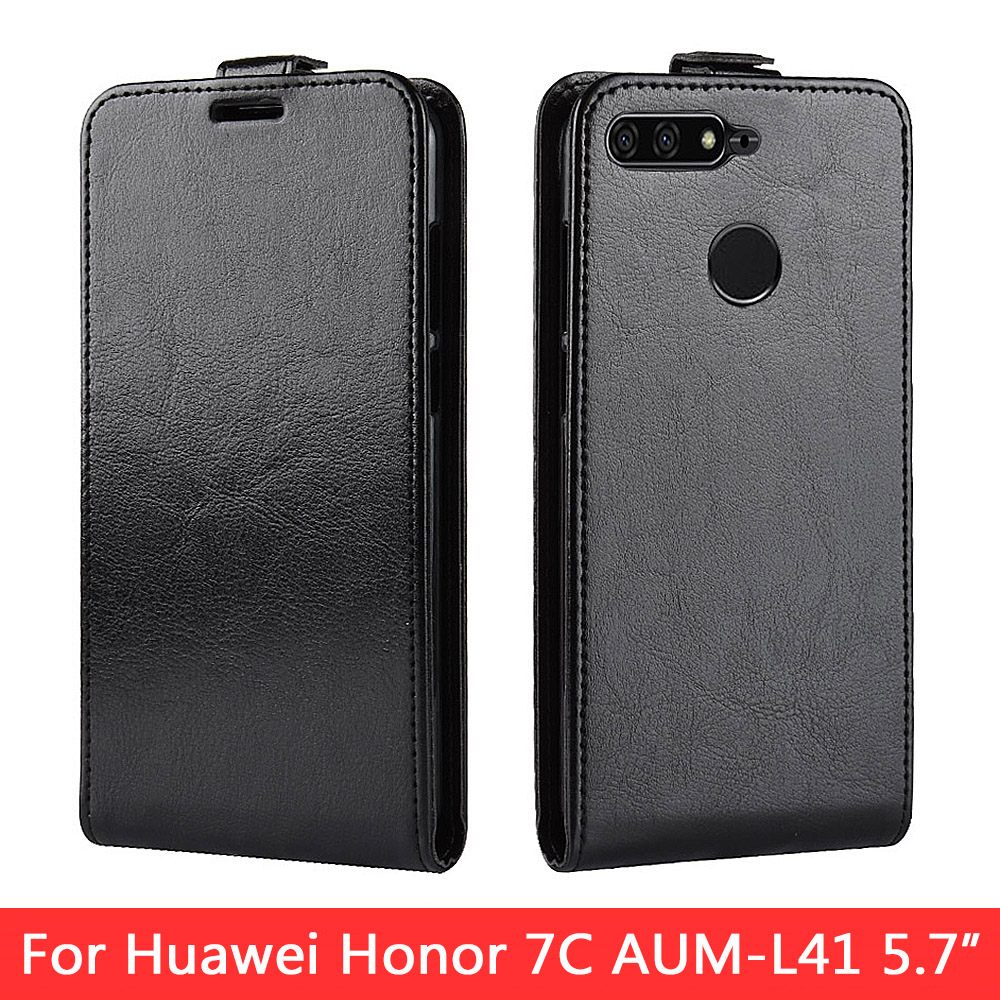 N-KHW1916_1_Vertical Flip Leather Case for Huawei Honor 7C 5.7 inch