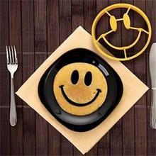 Форма для омлета 1 шт. силиконовая улыбающаяся Яичница форма для завтрака DIY Форма для яиц в форме лица с улыбкой блинное кольцо яйцо инструмент
