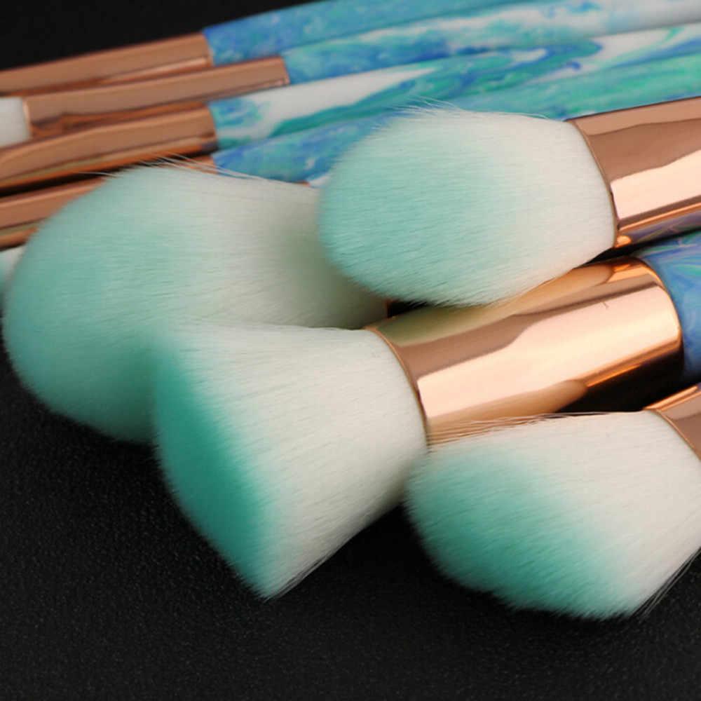 10 marmor Jade Muster Make-Up Pinsel Lidschatten Pinsel Pinsel Anzug Rot holzgriff künstliche fiber Make-Up Pinsel Set drop