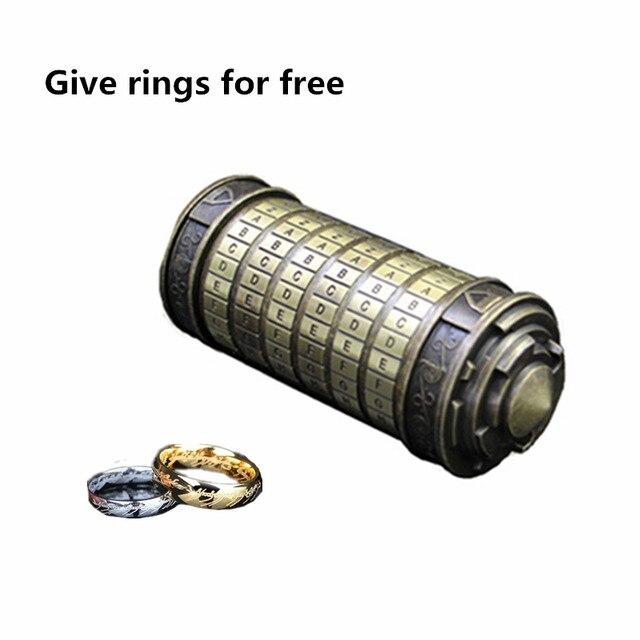 [Hot] jouets éducatifs en métal Cryptex serrures idées cadeaux Da Vinci Code serrure pour épouser les accessoires de chambre d'évasion amoureux obtenir 2 anneaux gratuits - 5