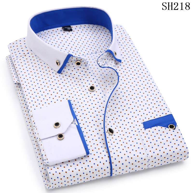 HTB1sLFlSMTqK1RjSZPhq6xfOFXaa - Fashion Print Casual Men Long Sleeve Shirt Stitching Fashion Pocket Design