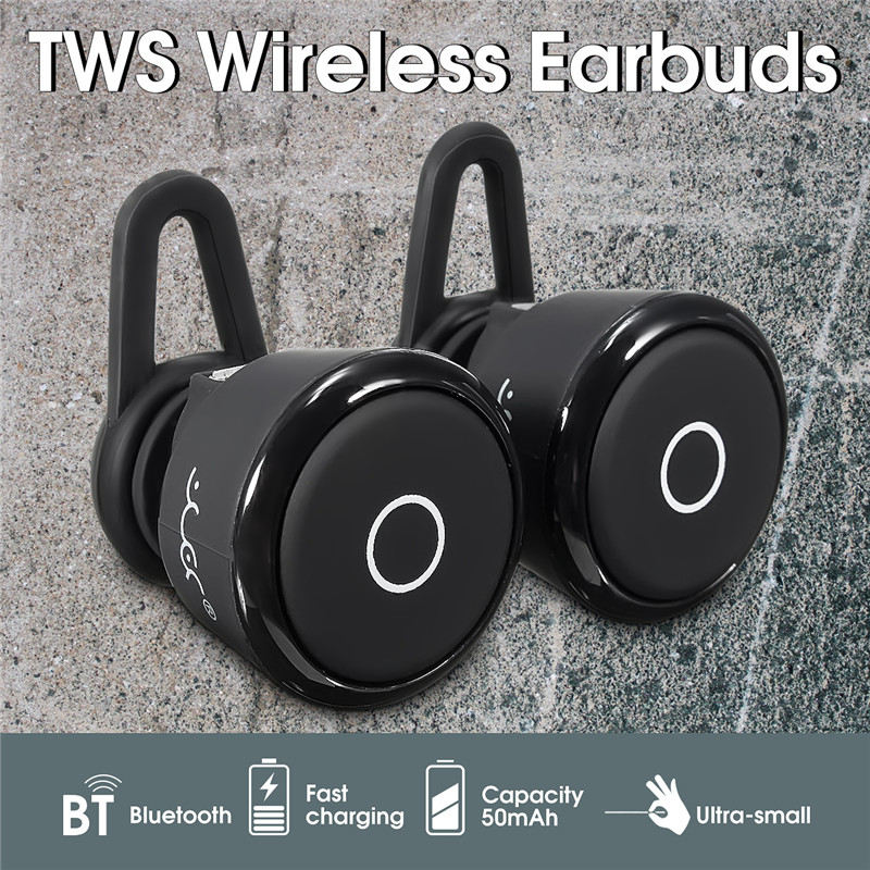 Mini HiFi TWS Double Bluetooth Earphones Stereo Music Sports Running Wireless Earbuds Bass 3D Stereo Headphone In-Ear for Phone magnetic switch earphones sports running wireless earbuds bass bluetooth headsets in ear with mic for running fitness exercise