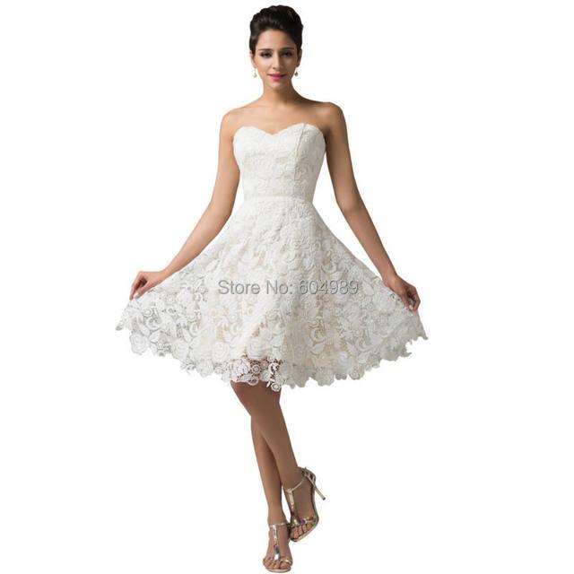 Online Shop Lace Evening Dresses 2016 Grace Karin Ivory crochet ...