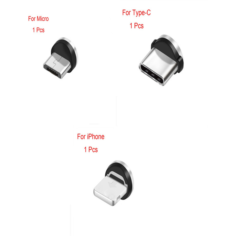 Magnetic Transfer Connector Magnetic Micro USB Connector Adapter IOS Android Type-C Magnetic Adapter For IPhone/Type-C/Micro USB