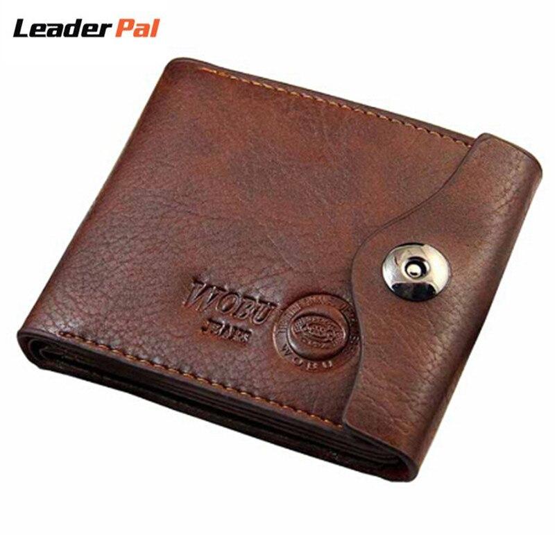 Small wallet men multifunction purse men wallets with coin pocket hasp design men leather wallet male famous brand money bag