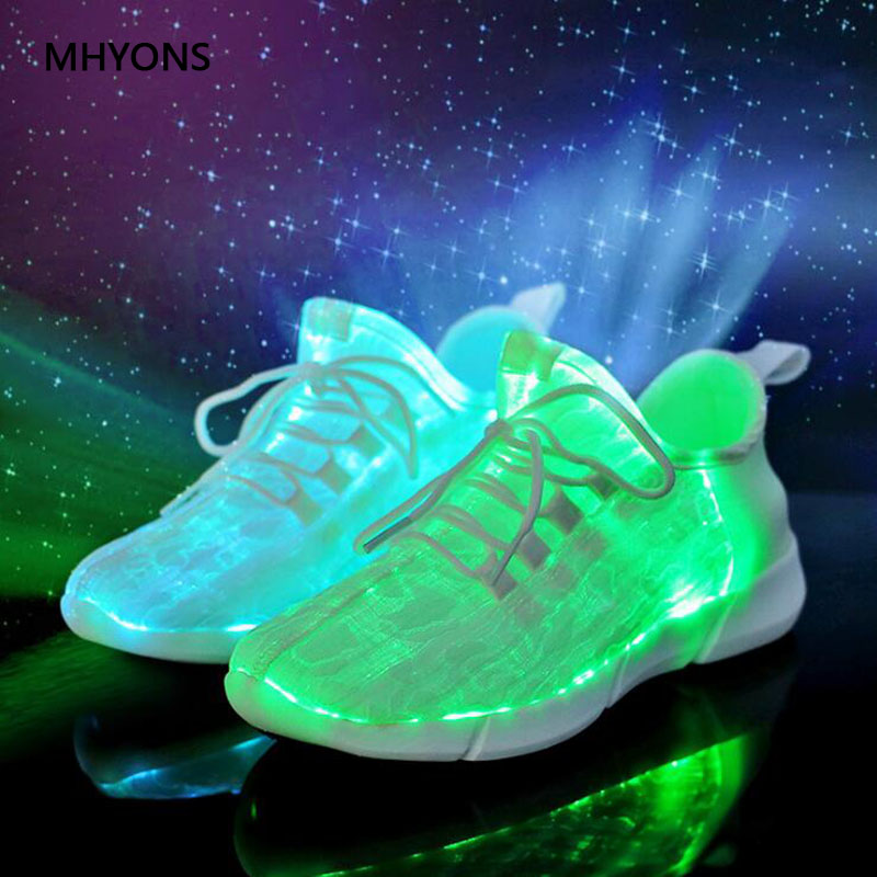 MHYONS 2018 USB Charging Led Luminous Shoes For Boys Girls Fashion Colorful Light Up Casual Shoes Sole Glowing Children Sneakers new 7 color led glowing sneakers casual kids shoes for boys girls shoes fashion casual light up sneakers with luminous sole