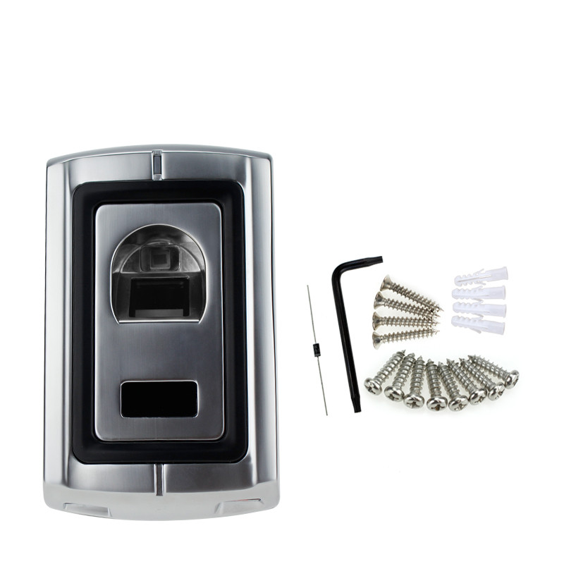 Standalone Metal Fingerprint Scanner Lock Machine With Waterproof Rain Proof Cover Protector For Door Access Control System