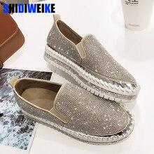 2020 מותג אירופאי אופנה נעלי אישה עור מטפסי דירות גבירותיי נעלי קריסטל ופרס g361
