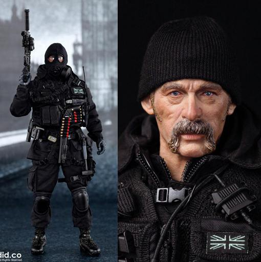 1/6 scale Super flexible figure British SAS B Squadron-Black Ops Team 12 action figure doll plastic Collectible model toy did1 6 scale doll jean reno french soldiers special edition super flexible figure model toy wwi soldier finished product