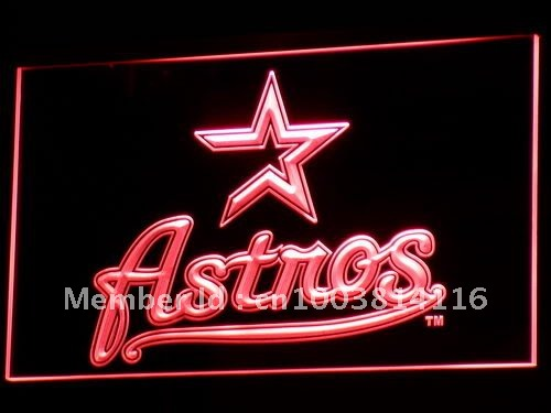 b135 Houston Astros Baseball Bar LED Neon Sign with On/Off Switch 20+ Colors 5 Sizes to choose
