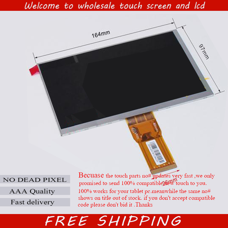 New LCD Display Matrix 7 inch Irbis TX72 TABLET 1024*600 TFT LCD Screen Panel Lens Frame replacement Free Shipping new lcd display matrix 7 trekstor surftab wintrom 7 0 tablet 1024x600 lcd screen panel lens frame replacement free shipping