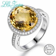 L& zuan 7.57ct кольцо с натуральным топазом стерлингового серебра 925 пробы ювелирные изделия шахматная доска драгоценный камень роскошные кольца для женщин свадьбы
