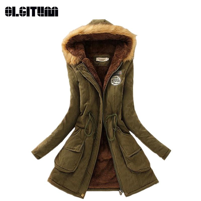 Inverno Donna Cappotto 2018 Parka Outwear Casuale Militare Con Cappuccio Cappotto Donna Abbigliamento Cappotti di Pelliccia Giacca Invernale femminile Donne CC001