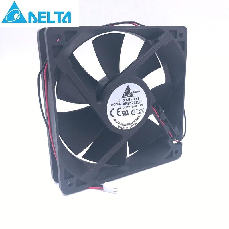 Delta fan AFB1212SH 12CM 120MM 12025 12V 0.80A Cooling Fan 2-p 3400 rpm 113CFM все цены