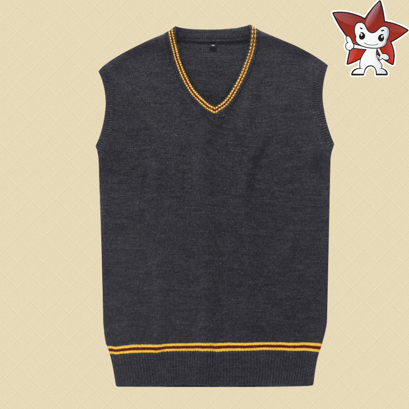 Stock Hufflepuff Slytherin Ravenclaw Gryffindor Harry Vest Sweater Cosplay Costume From Harry Movie