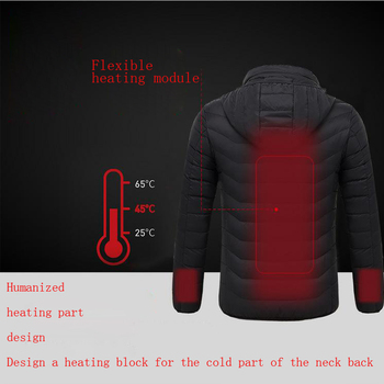 Giacca Da Uomo | Unisex Inverno All'aperto Intelligente USB Di Lavoro Con Cappuccio Riscaldamento Cappotti Giacca Di Controllo Della Temperatura Regolabile Di Sicurezza Abbigliamento DSY007