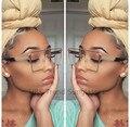 2017 Cuadrado gafas de Sol Frescas Hombres Mujeres Flat Top Gafas de Espejo Gafas de Sol Gafas Señora Grande de Metal de Gran Tamaño Transparente Femenina