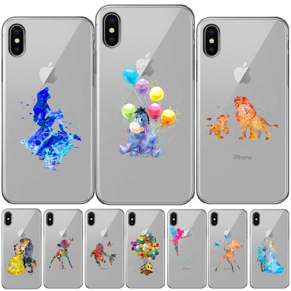 Aquarel Tinkerbell Mermaid Herten Prinses Soft TPU Silicon Cover Voor iPhone 11 Pro X XS Max XR 6 6S 7 8 Plus 5 5S SE Gevallen
