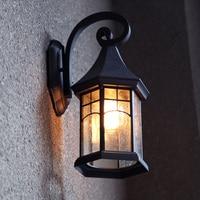Lámpara de pared exterior Continental impermeable retro villa creativa iluminación exterior luces de jardín balcón lámpara de pared LL-12