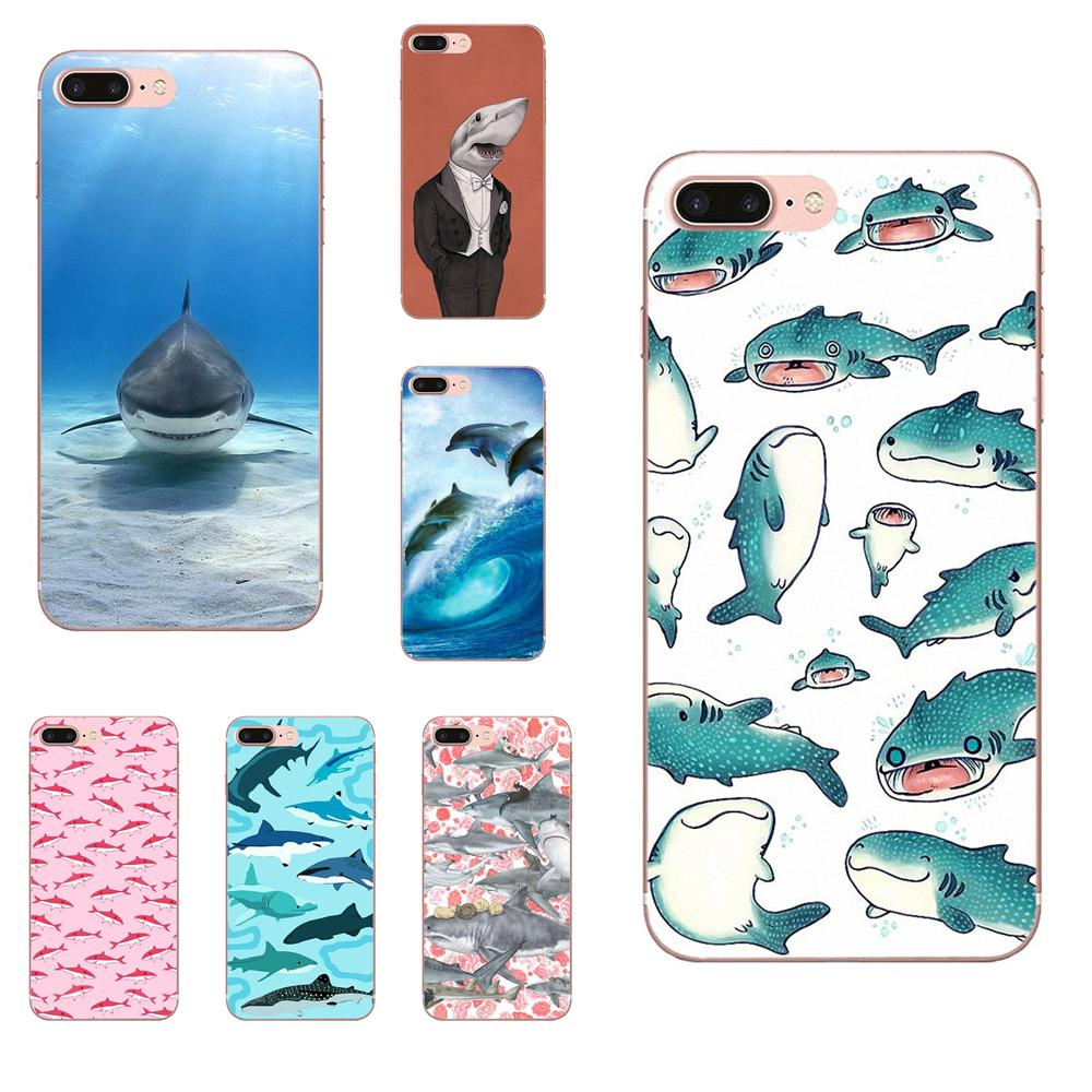 Half-wrapped Case Beautiful Phone Accessories Case For Huawei P7 P8 P9 P10 P20 P30 Mate 7 8 9 10 Lite Plus Pro 2017 Pastel Sharks Wallpaper Art Mild And Mellow Phone Bags & Cases