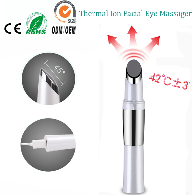 Electric touch control micro vibration ionic face eye forehead beauty skin care wrinkle remover firming massager pen magic stick