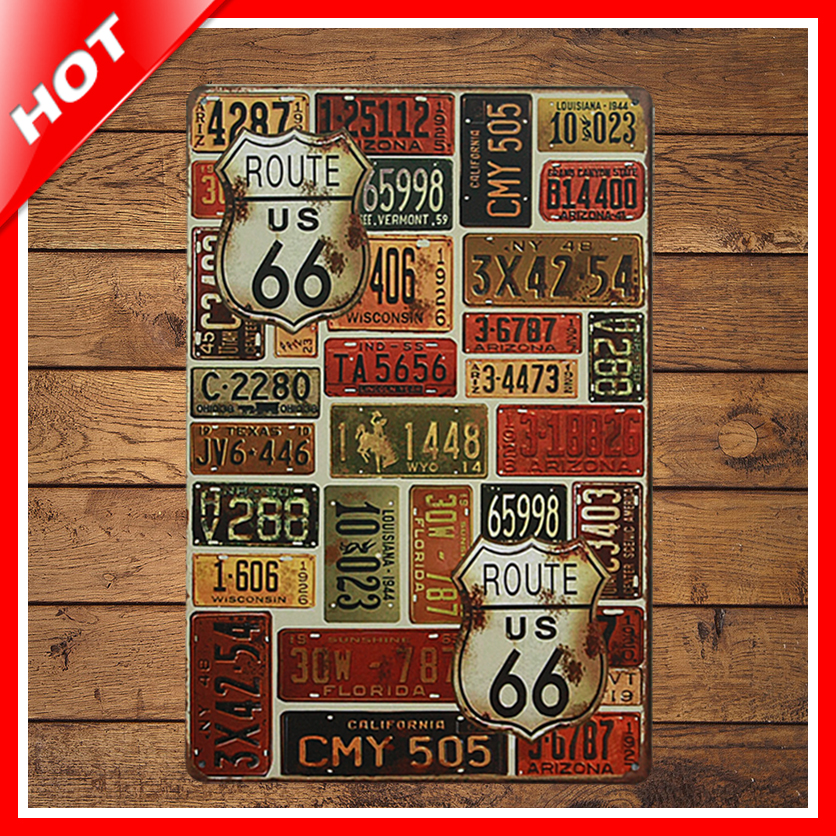 Metal Signs For Home Decor: Aliexpress.com : Buy [ IDEA ]^_^20*30cm 66 Route Vintage
