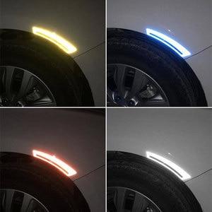 Image 5 - 2PCS Car reflective sticker door handle door bowl Protection for Ferrari BMW Audi Toyota  Honda Mazda Hyundai Mercedes Benz Ford