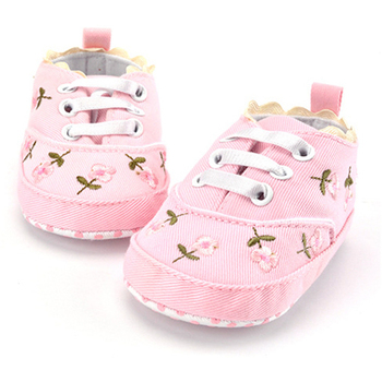 2020 moda wiosna jesień dziecko buty dla noworodka kwiecisty nadruk dziewczynek miękka podeszwa buciki antypoślizgowe buty dla dzieci 0-18M tanie i dobre opinie MUPLY Płótno Kwiat Wiosna jesień Gumką Kwiatowy Baby girl Pierwsze spacerowiczów COTTON Pasuje prawda na wymiar weź swój normalny rozmiar