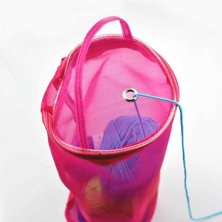 Мой дом 2017 Сетчатая Сумка легкая портативная пряжа нитки для вязания органайзер для хранения сумка 17SEP8