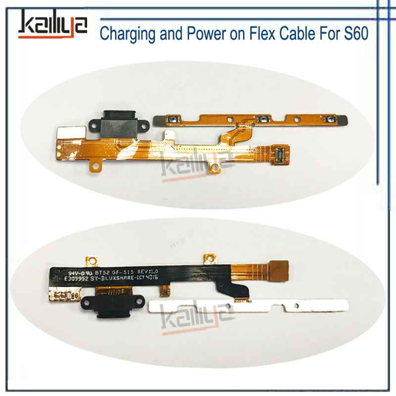 Charging And Power On Flex Cable For Caterpillar Cat S60 S 60 1PCS Power Charging Bottons For Caterpillar Cat S60