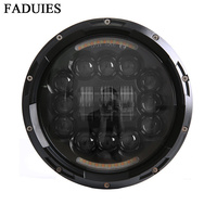 FADUIES 7 Inch Motorcycl Daymaker LED Headlight 7 Inch Black Motorcycle Daymaker LED Headlight With Angle